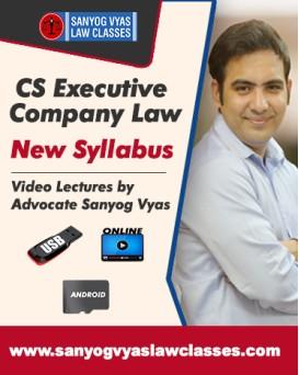 CS EXECUTIVE NEW SYLLABUS-COMPANY LAW