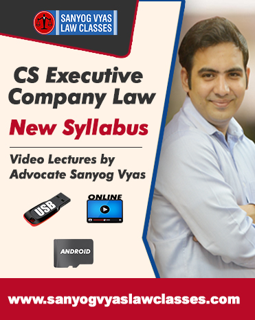 CS EXECUTIVE NEW SYLLABUS-COMPANY LAW