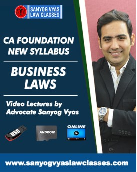 CA FOUNADATION -BUSINESS LAWS ONLY(60 MARKS)