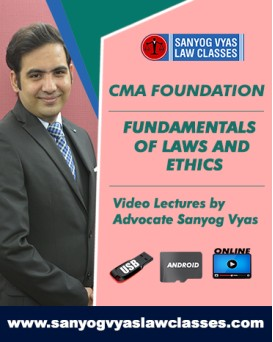 CMA FOUNDATION -Fundamentals of Laws & Ethics