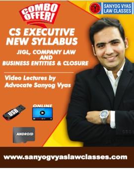 CS EXECUTIVE NEW SYLLABUS -JIGL,CO.LAW & SETTING UP OF BUSINESS ENTITIES & CLOSURE COMBO